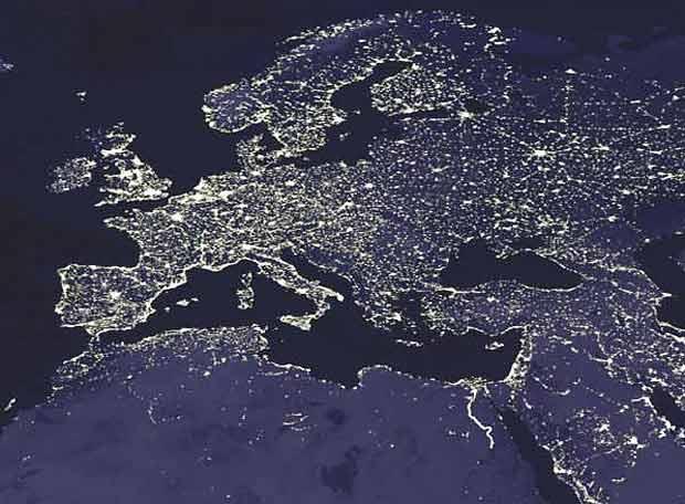 vistas de la tierra desde el espacio: